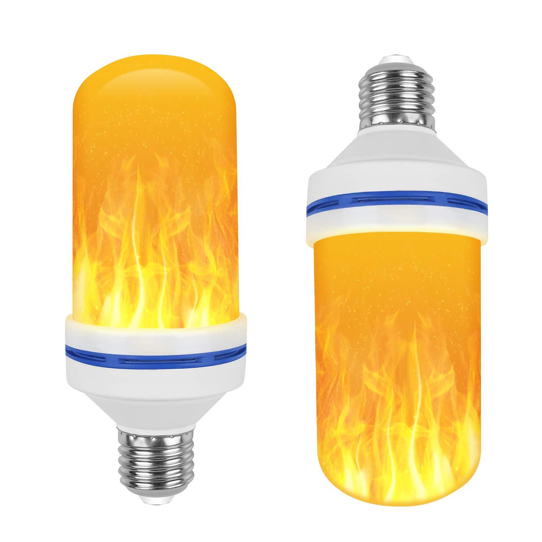 Creative 3 modes+Gravity Sensor Flame Lights E27 LED Flame Effect Fire Light Bulb 7W Flickering Emulation Decor Lamp