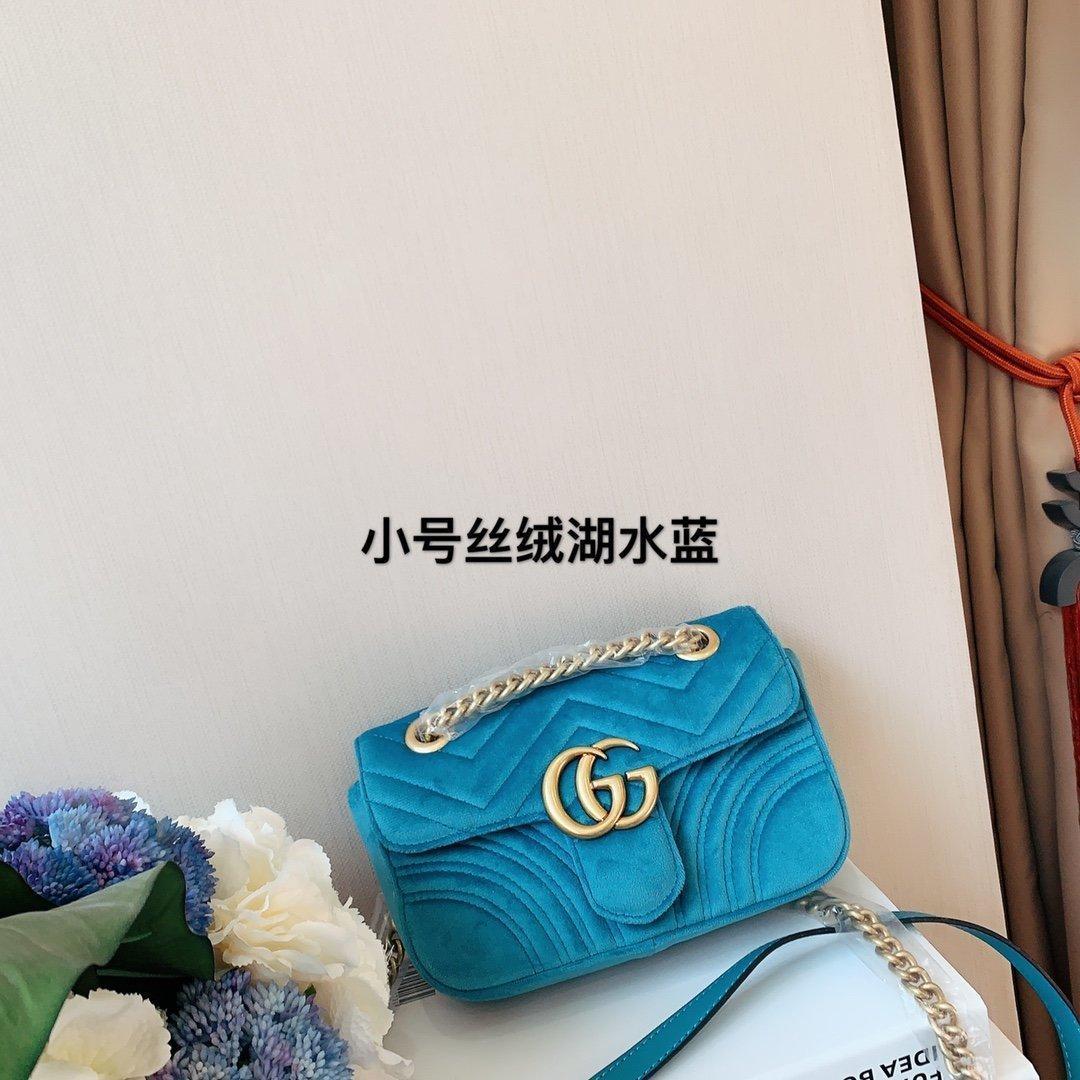 Popüler moda kadın omuz çantası klasik altın zincir kadife çanta taşıyan kurye çantası
