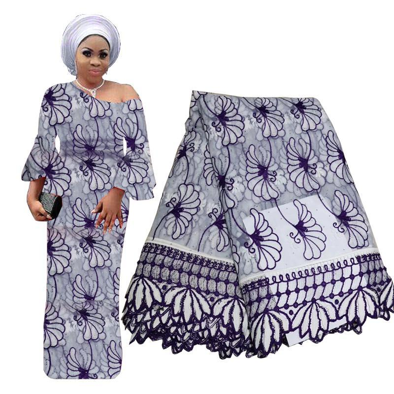 African Lace Fabric 2019 Best Selling Swiss Voile With Stones Lace High Quality Nigerian Tulle Mesh Lace Fabric In Switzerland BF0086