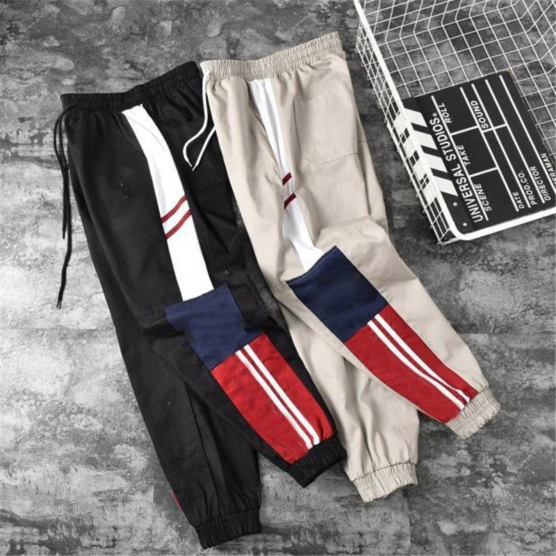 Erkekler artı boyutu pantolon 2 renk S-2XL Asya boyutu pantolon baskılı moda