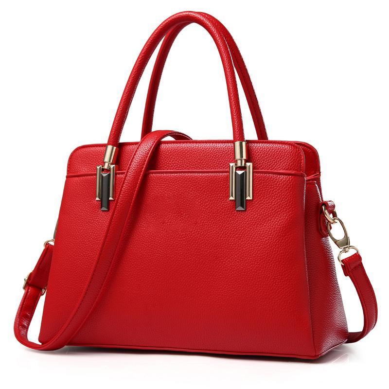 HBP 핸드백 토트 숄더 가방 Satchel Purses 여성을위한 탑 핸들 가방 핸드백 붉은 색