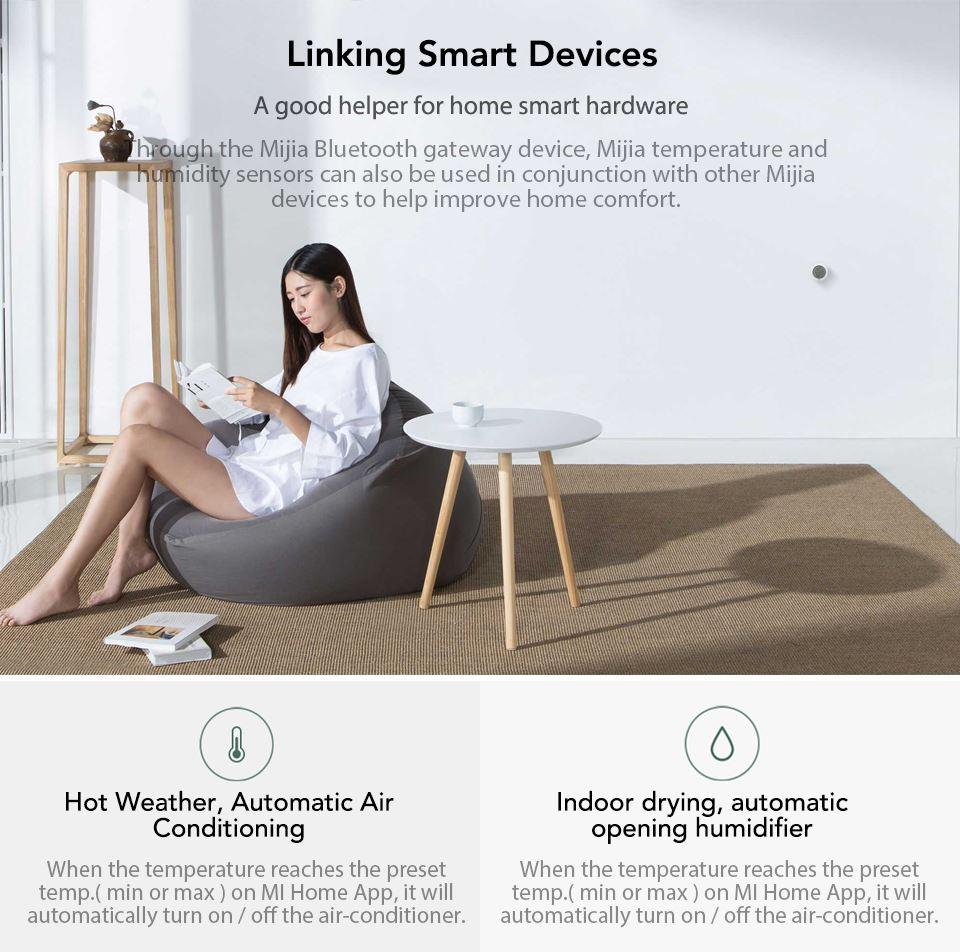 Xiaomi Mijia Bluetooth Temperature Humidity Monitor Sensor APP Control Built-in Sensor LCD Display Magnetic Stick Ultra-LowPower (5)