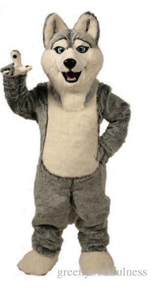 2019 haute qualité loup mascotte costumes halloween chien mascotte caractère vacances tête fantaisie costume de costume taille adulte taille anniversaire