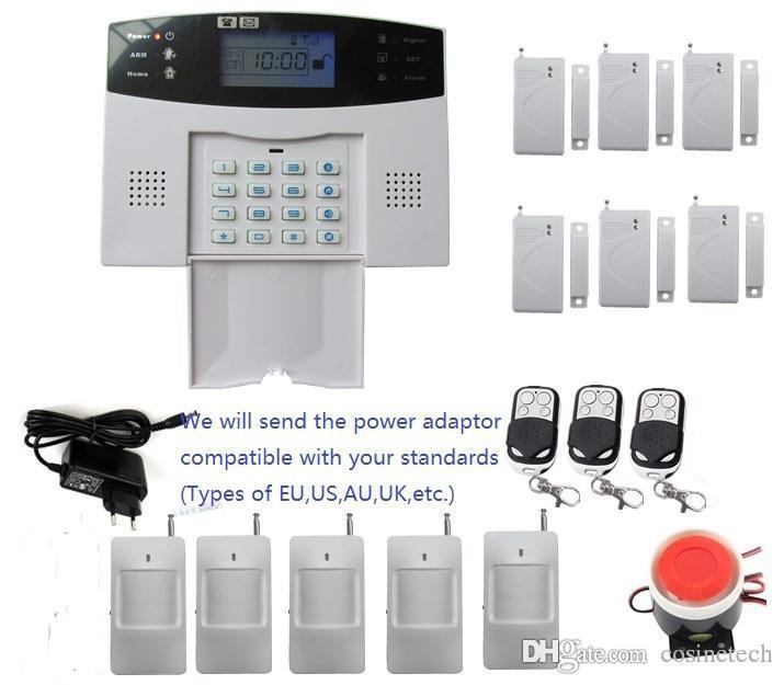 App-gesteuertes DIY-Alarm-Kit mit LCD-Display 7 kabelgebundene und 99 kabellose Schutzzonen