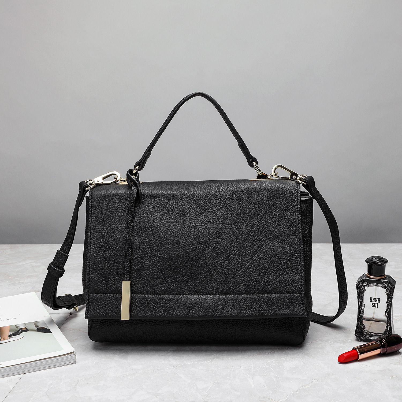 2020 nuevo cuero de cuero bolsos de moda tranquilamente en relieve primera capa de la bolsa de mensajero de las mujeres del bolso del bolso de cuero