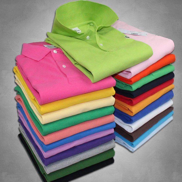 Lacoste Polo de cocodrilo de alta calidad Hombres Pantalones cortos de algodón liso Polo Verano Casual Polo Homme Camisetas Hombre Polos Camisas Poloshirt SS01
