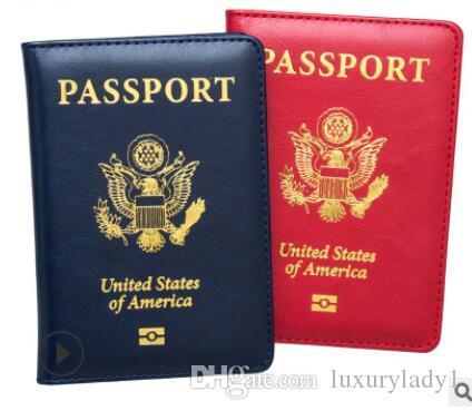 USA جواز السفر الغلاف مخصص سفر جواز سفر حامل يغطي المحفظة الأمريكية للجوازات بنات أمريكا