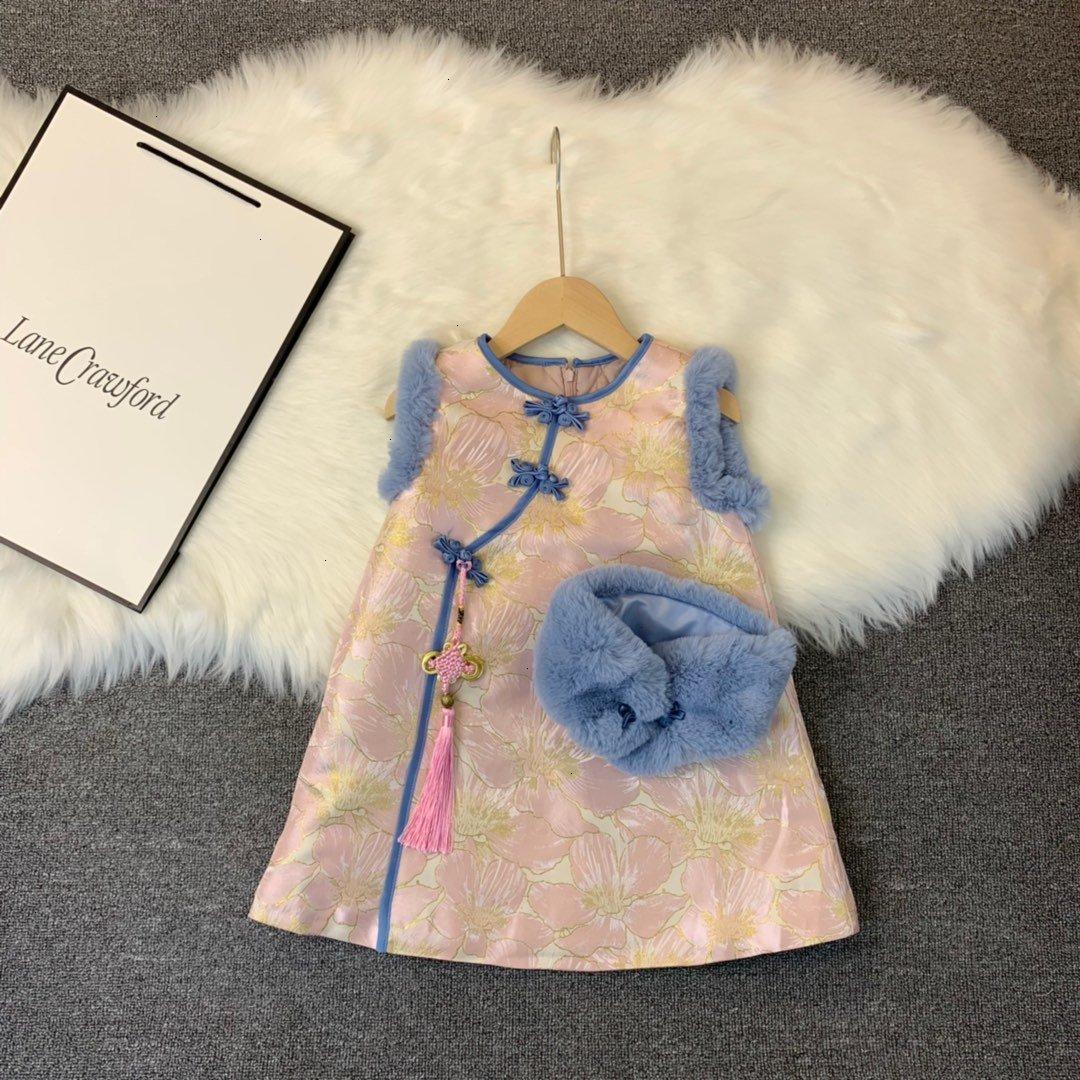 Девочка платья высокого качества Vintage WSJ012 элегантности # 112953 kids04