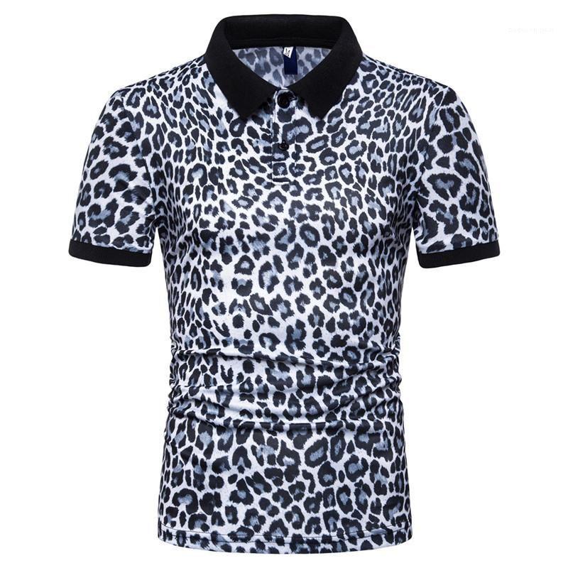 Tops manches courtes 2020 hommes Leopard Designer Casual Male Polos Été Mode Polo T-shirts Chemise