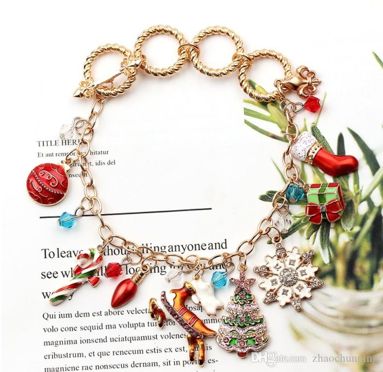 New Christmas Halloween Bracelet Alloy Drop Oil Luxury Fashion Factory Direct 0957
