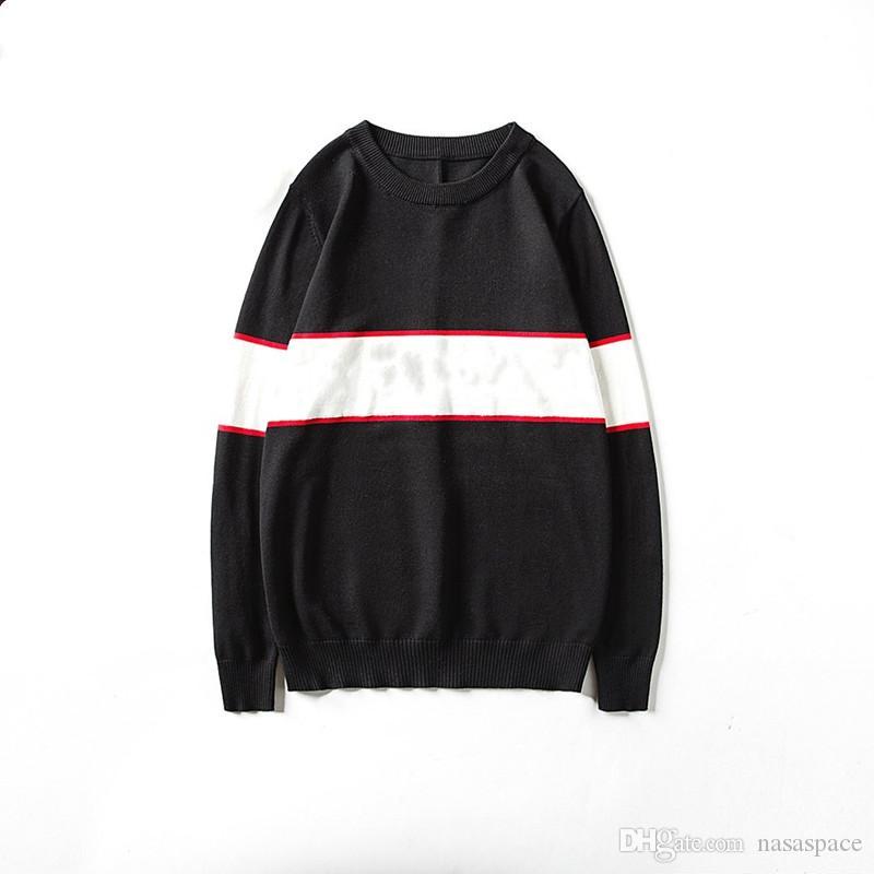 남성 스웨터 패션 남자 여성 고품질 스웨터 풀 오버 긴 소매 편지 인쇄 커플 스웨터 크기 M-XXL