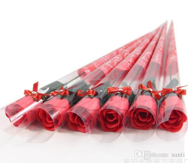 Einzelne Farbpapierseife-Blume kreativer Simulation Rose Seifenblume Valentinstag