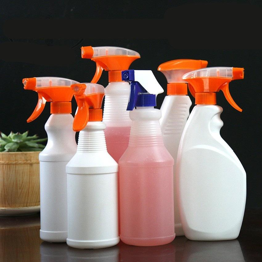 500 600ML White Plastic Spray Bottles 1000ML Spraying Bottle Leak Proof Mist Water Bottle for Cleaning Solutions Adjustable Head Sprayer