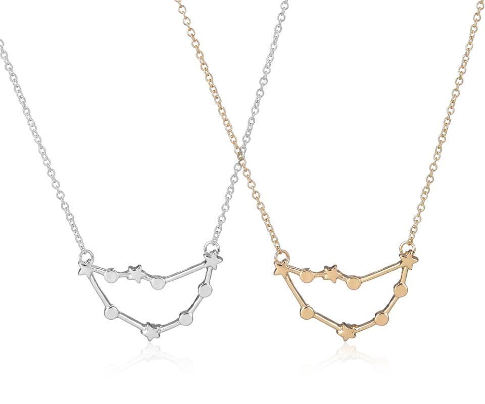 2016 della moda di New Capricorno Segni zodiacali astrologia collana costellazione collane per le donne ragazze di compleanno gioielli regalo -N177