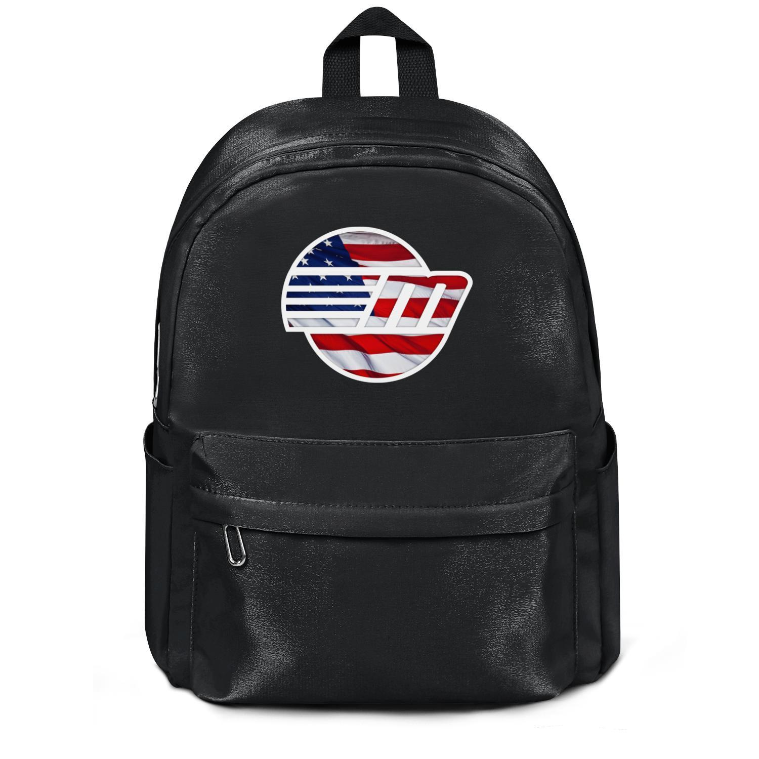 Malibu Boats Wakesetter American flag Fashion cinch Wool ,Shoulder backpack, design retro character durable and convenient string for