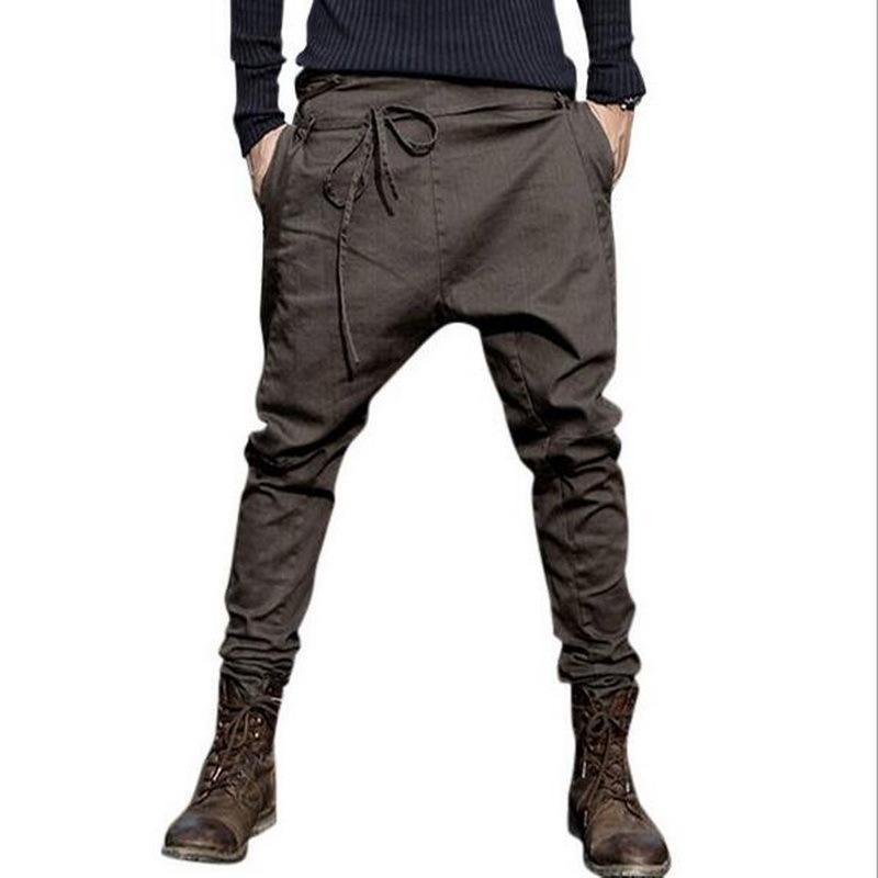 VXO hombres harén pantalones ocasionales de los pantalones de los hombres Marca Flacidez pantalones bajo entrepierna de las bragas de los hombres Joggers Pies HIP HOP Pantalones CY200518