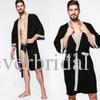 2019 Cotton Men's Waffle Robe Bathrobe Steaming Sauna Bathing Towel Spa Custom Made High Quality Nightgown