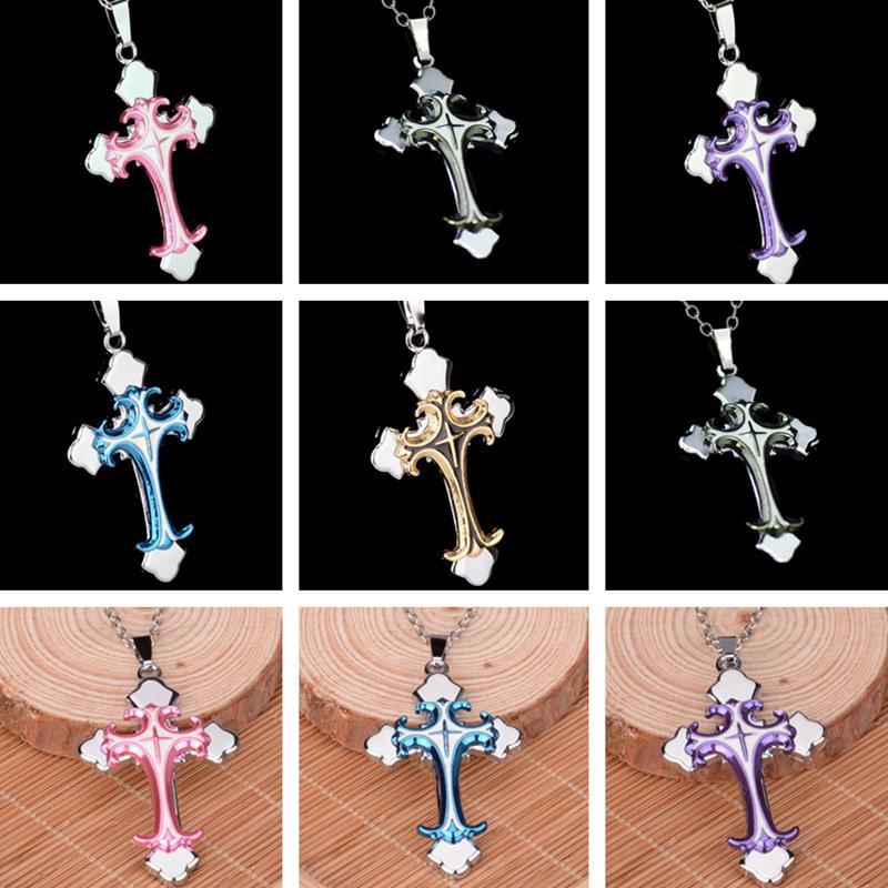 ePacket dhl Fashionable Christian electroplate drop oil Cross Pendant Necklace DAN20 mix order Pendant Necklaces