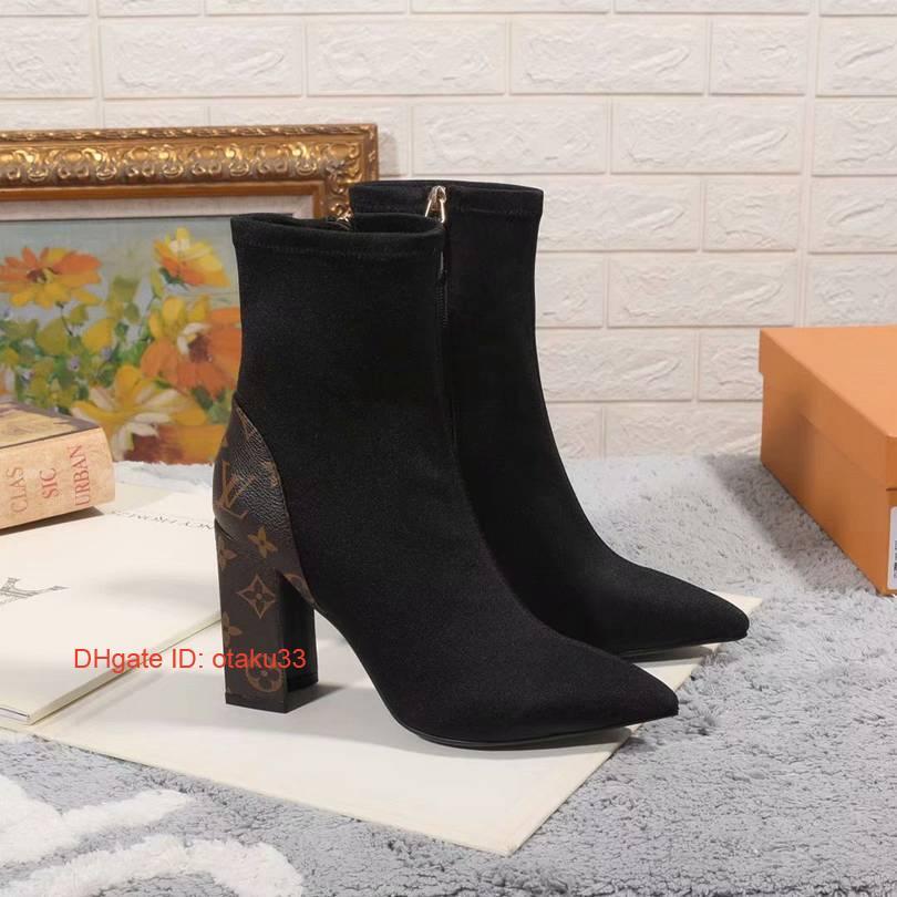 zapatos casuales botas de la marca de gama alta calidad zapatos de tacón alto de invierno envío libre tendencia estación europea de la moda de cuero de las mujeres s 09171