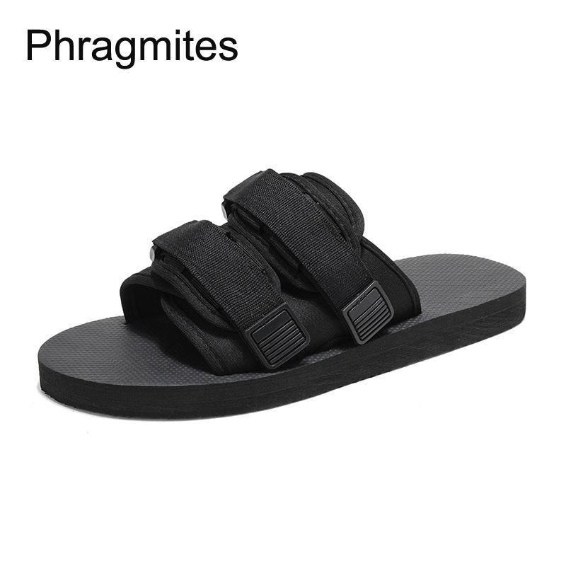 Phragmites Erkekler Terlik Siyah Boyut 46 Yaz Sandalet Yumuşak EVA Terlik Moda Sandalet Ayakkabı Kadınlar Çift Terlikler