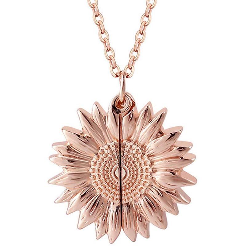 """""""Ты мое солнце"""" выгравированное ожерелье мемориальный подсолнечник медальон кулон ожерелье для женщин Девушки рождественские подарки"""