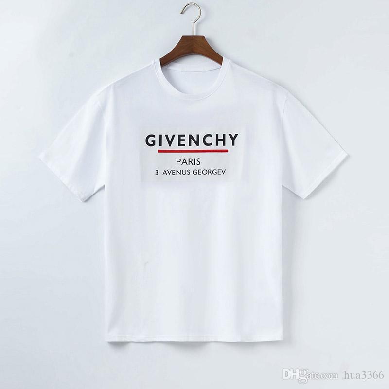 Mode Hot Design Le T-shirt pour les hommes T-shirt respirant avec lettres d'été à manches courtes T-shirt des hommes chemise Medusa manches courtes t