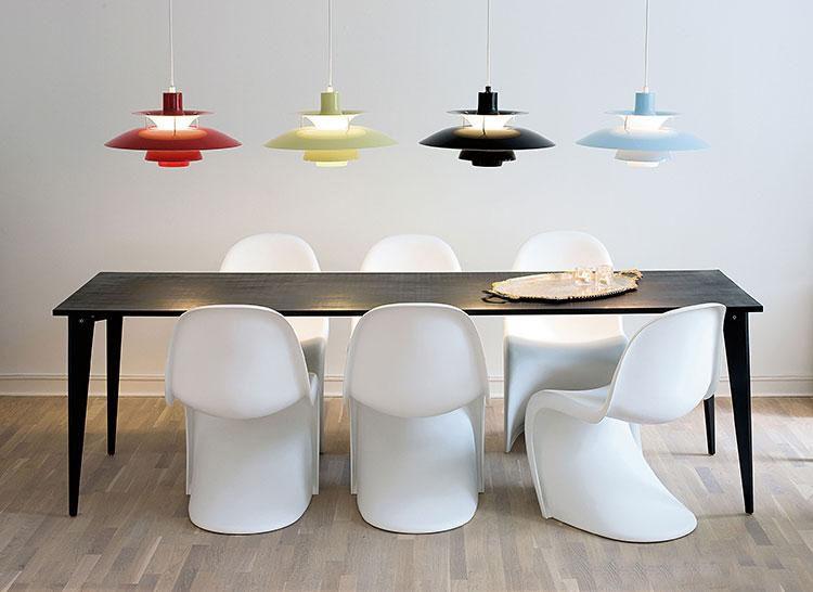 북유럽 뜨거운 알루미늄 펜던트 램프 현대 미니멀리스트 PH5 펜 던 트 조명 덴마크 디자인 램프 펜 던 트 조명 M 레스토랑