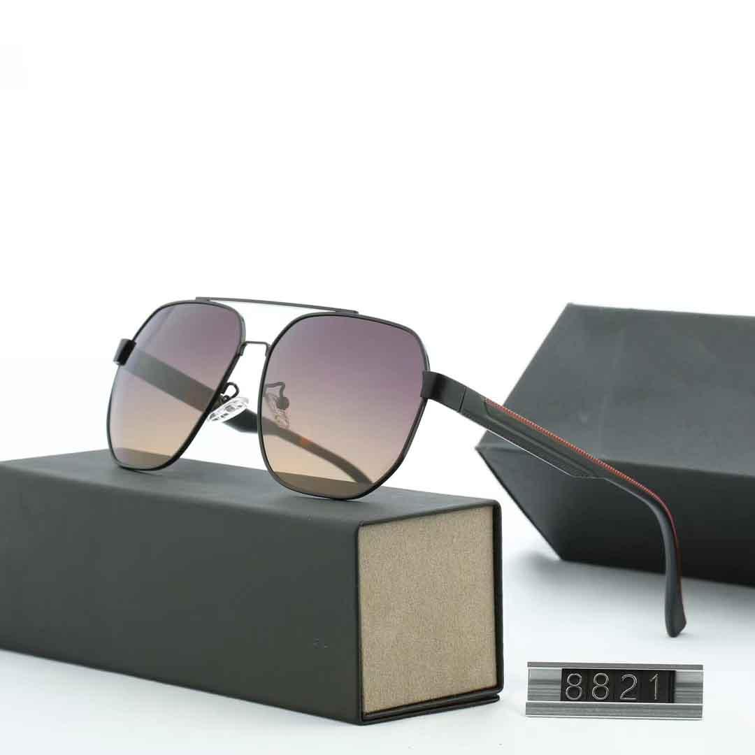 New Large Frame Men's Polarized Sunglasses Driving Sunglasses Fashion Glasses Trend Glasses 8821 with original box