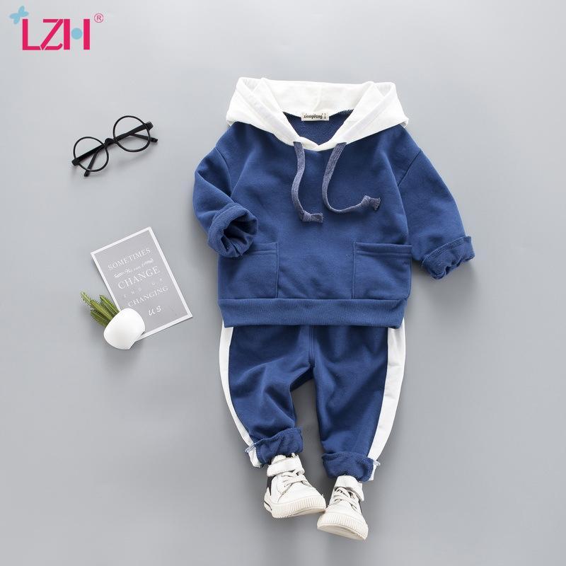 Младенческая Одежда 2020 осень зима Новорожденные Одежда для мальчиков Одежда Набор Hoodie + кальсоны 2pcs Outfit малышей костюма младенца костюма