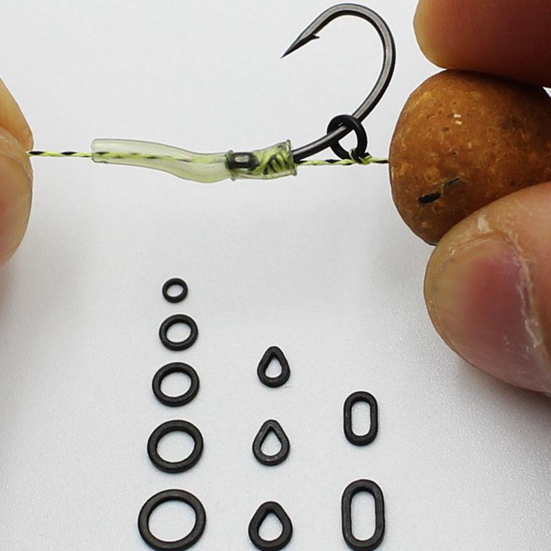 CARP HAIR RIGS ROUND RIG RINGS MATT BLACK ANTI-GLARE 3.7 mm