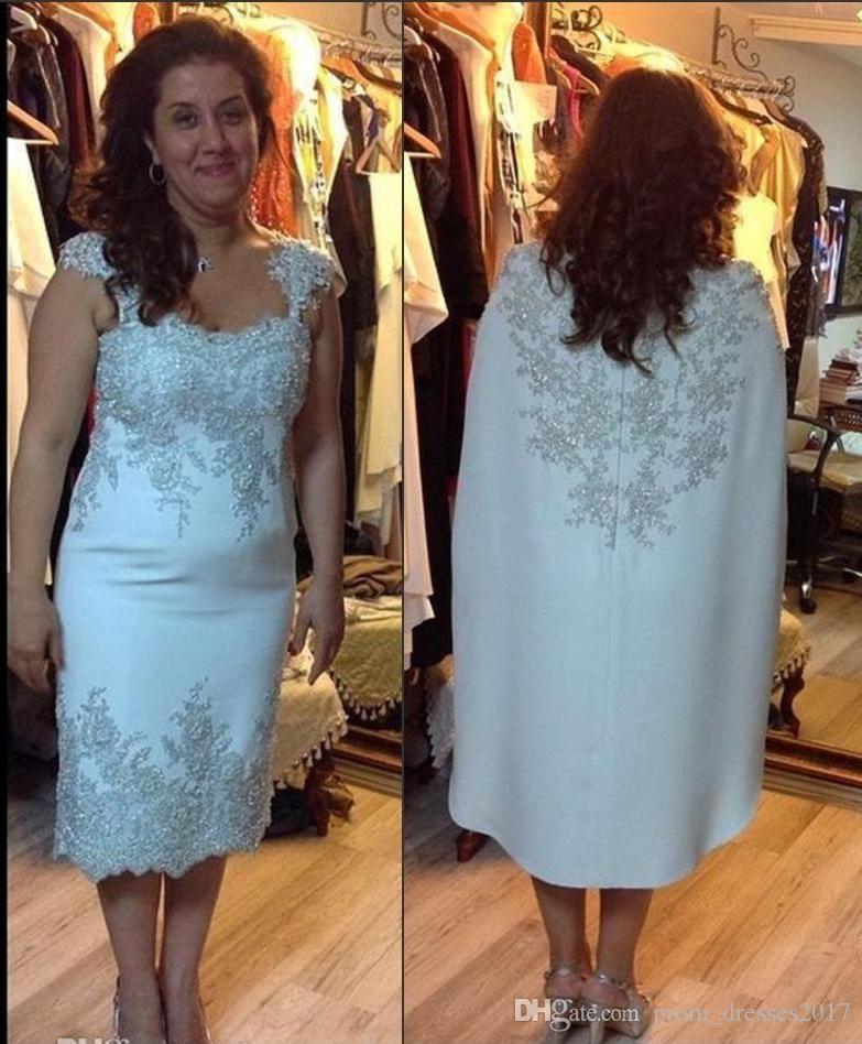 Cape Örgün Kadınlar Gelinlik Ortadoğu Dubai Biçimsel törenlerinde ile Gelin Elbise Muhteşem Gümüş Dantel Aplike Anne