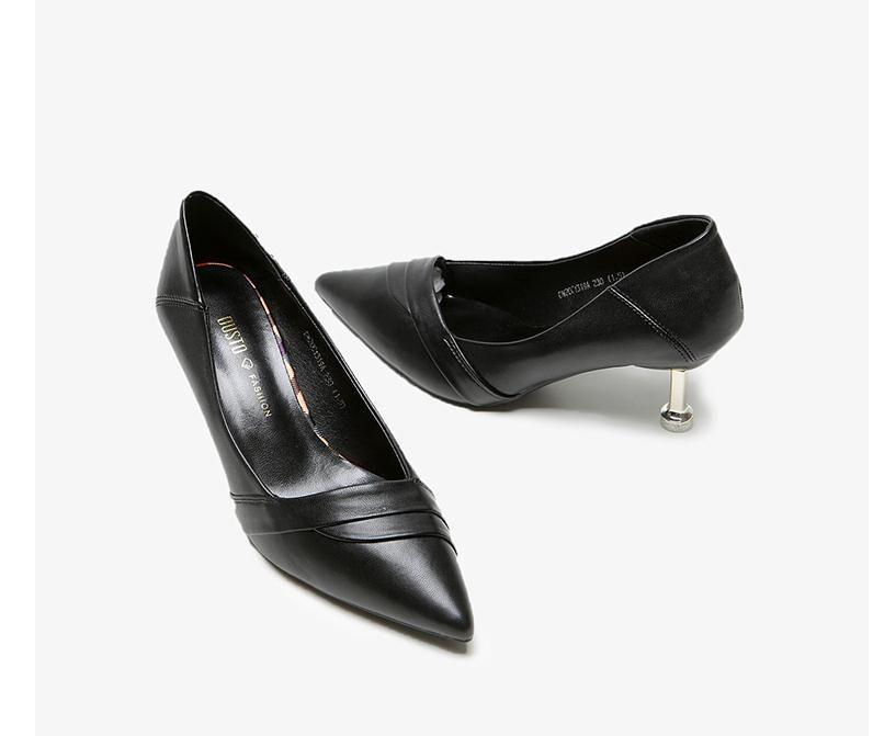 2020 весной и осенью с новой моды стиль Высокий каблук прекрасный пятки заостренный конец обувь Женская @ MQWBH383