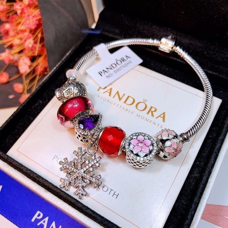 b22f75870 Charm Bracelets 925 Silver Snake Chain Fit Pandora Bead Bangle Fashion snap  Jewelry wholesale Gift For Women