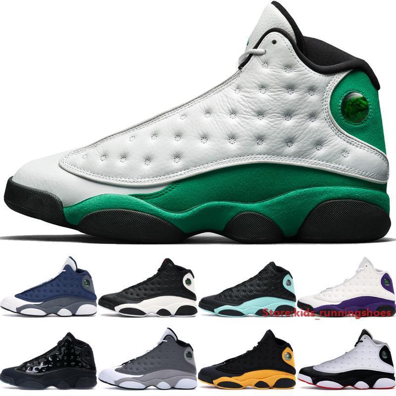 Jumpman 13 13s afortunado branco Shoes Men Verde Basquetebol tampão de alta qualidade e vestido Atmosfera Grey Hiper Real Outdoor Sneakers Tamanho 7-13