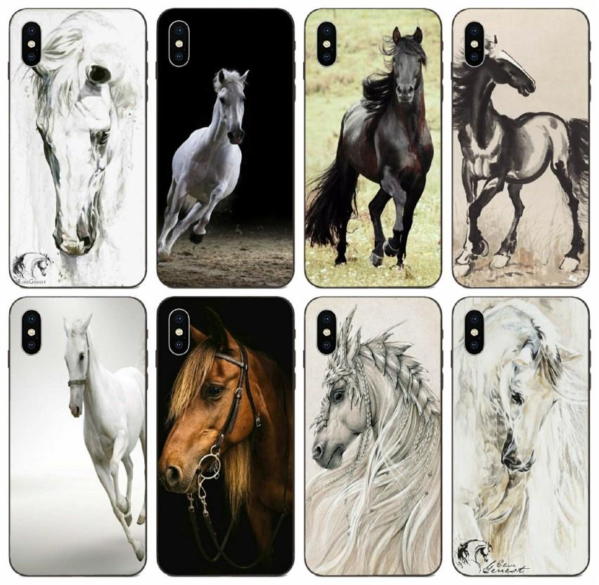 [TongTrade] Horse Animal Printed Case For Apple iPhone 11 Pro Max Xs 8s 7s 6s Galaxy A8 Plus Huawei Y5 Prime HTC One M7 1Pcs 10Pcs Case