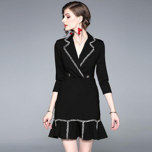 2020 Women Designer Dress New Elegent Work Suits For Lady With Ruffled Collar Trumpet Midi Above Knee Lady S Designer Dresses For Working Casual From Tnfking 47 24 Dhgate Com,Popular Fashion Designer Brands