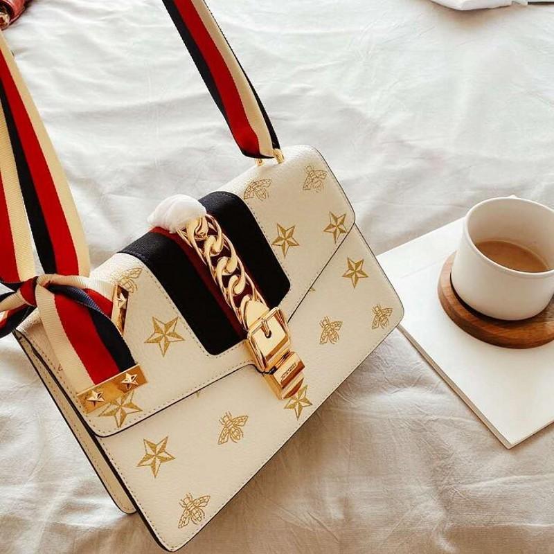 Nova moda de luxo Bolsas abelhas rebite designer bolsas sacos de mulher bolsa branca de alta qualidade Tote Purse Bag Crossbody Clutch Bags