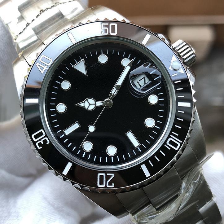 남성 시계 디자이너 시계 전문 다이버 마스터 손목 시계 사람 GMT 럭셔리 골드 여성 스테인레스 스틸 남성 자동 운동