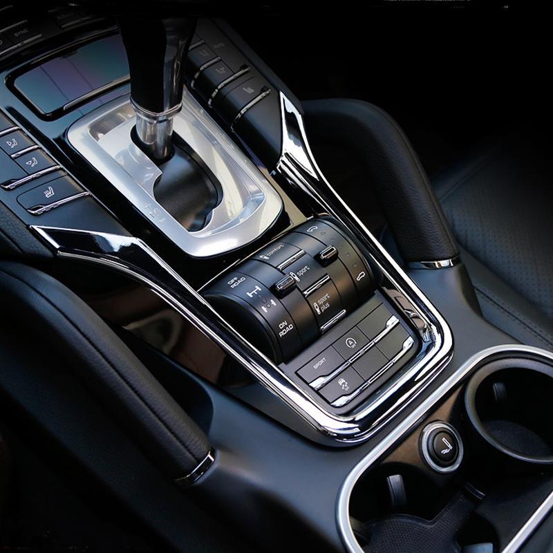 Coche centro interior Gear Box consola de cambios pegatina de las lentejuelas de la cubierta tira de ajuste 3D para Porsche Cayenne 2011-2017 Car-Styling Accesorios para automóviles