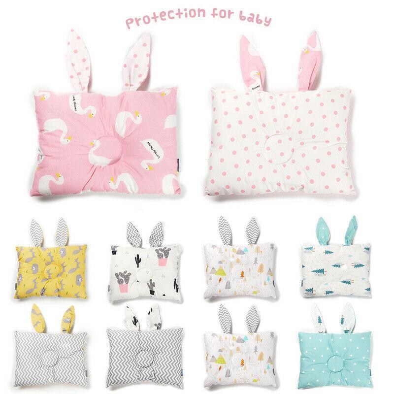 부드러운 신생아 아기 유아 코튼 베개 포지셔너 플랫 헤드 방지 롤 롤 면화 베개 귀여운