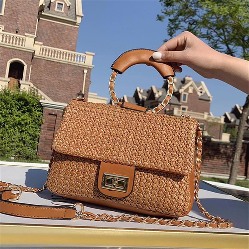 Ombro 2020 Nova Straw Handbag Mulheres designer sacos Bolsas Bandoleira Mulheres Moda Messenger Bag de Mulheres Bag Bolsa Feminina