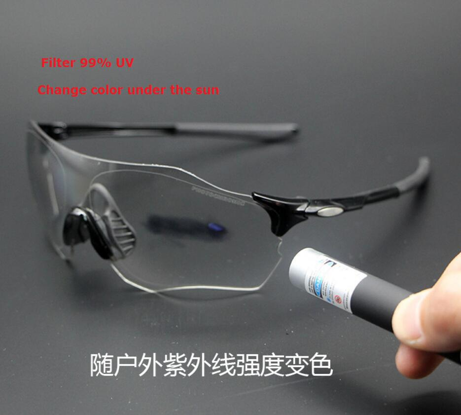Hot Clear Photochromic Cycling Glasses Men Women Sports discoloration lens MTB Mountain Road Bike Bicycle Cycling Sunglasses Eyewear