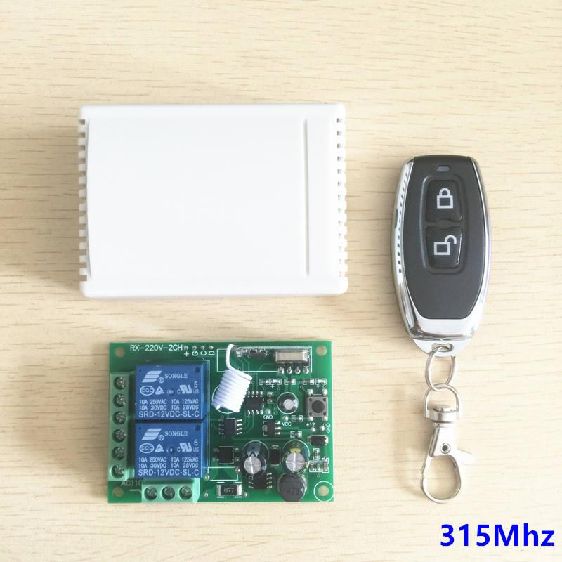 315Mhz Universal Wireless Remote Control Switch AC 250V 110V 220V 2CH Receiver Module Light Lamp Controls and RF Remote Controls