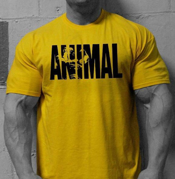 Para hombre de la camiseta del verano Impresión Animal nuevo estilo de la venta caliente masculino manga corta cuello redondo informal por mayor aptitud tee de deporte