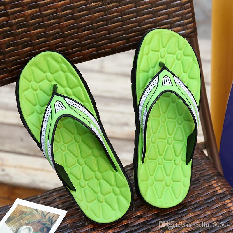 best quality designer Sandals Rubber Slide Sandal Slippers Green Red blue Stripe Fashion Design Men Classic Summer Flip Flops beach Sandal