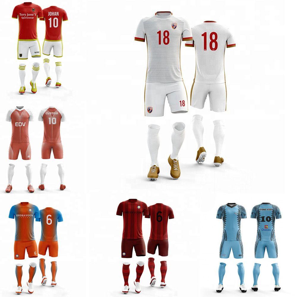Adult children's soccer set College Footbalteam football Jersey original football player custom name number
