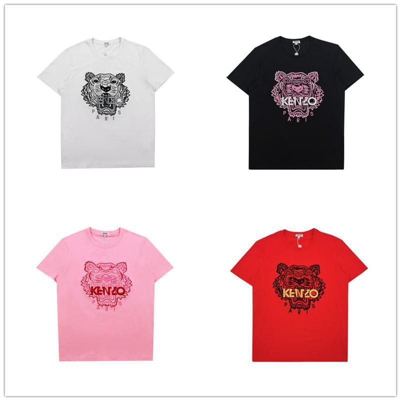 Camisas de diseño mujeres de los hombres de la marca de lujo de verano camisetas para hombre de la cabeza del tigre superior de lujo camisetas de la moda Hip Hop Casual Streetwear 23 colores 2020652K