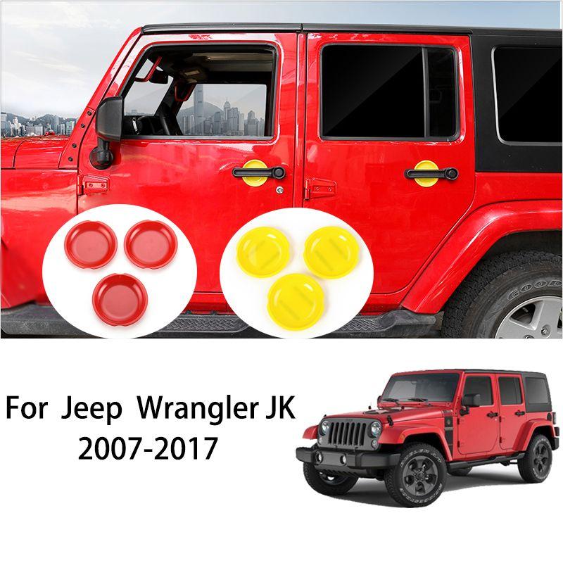 5*Black ABS Car Exterior Door Handle Bowl Cover Trim For 2018 Jeep Wrangler JL
