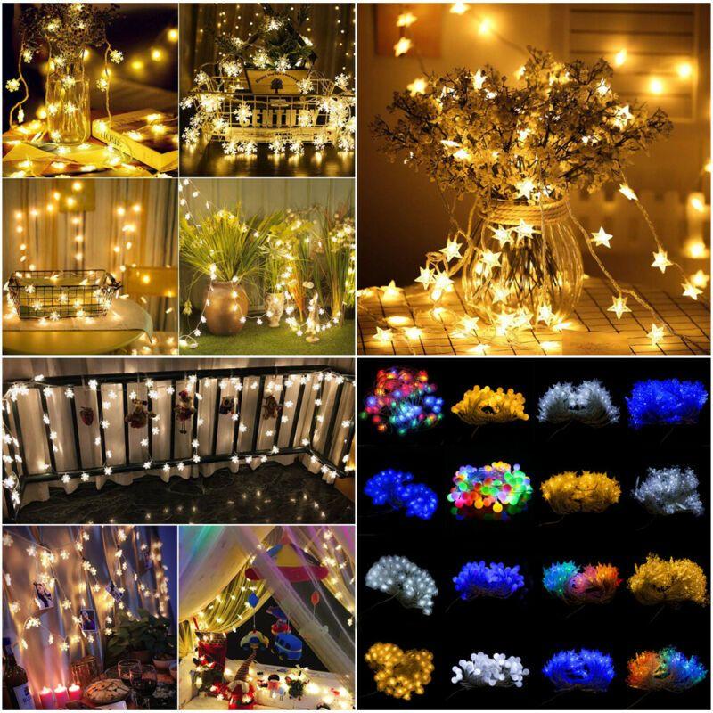 1pc 60 LED Fée des étoiles Guirlande LED Décoration de Noël Lumière pour festival fête de Noël de mariage Décoration d'intérieur en plein air