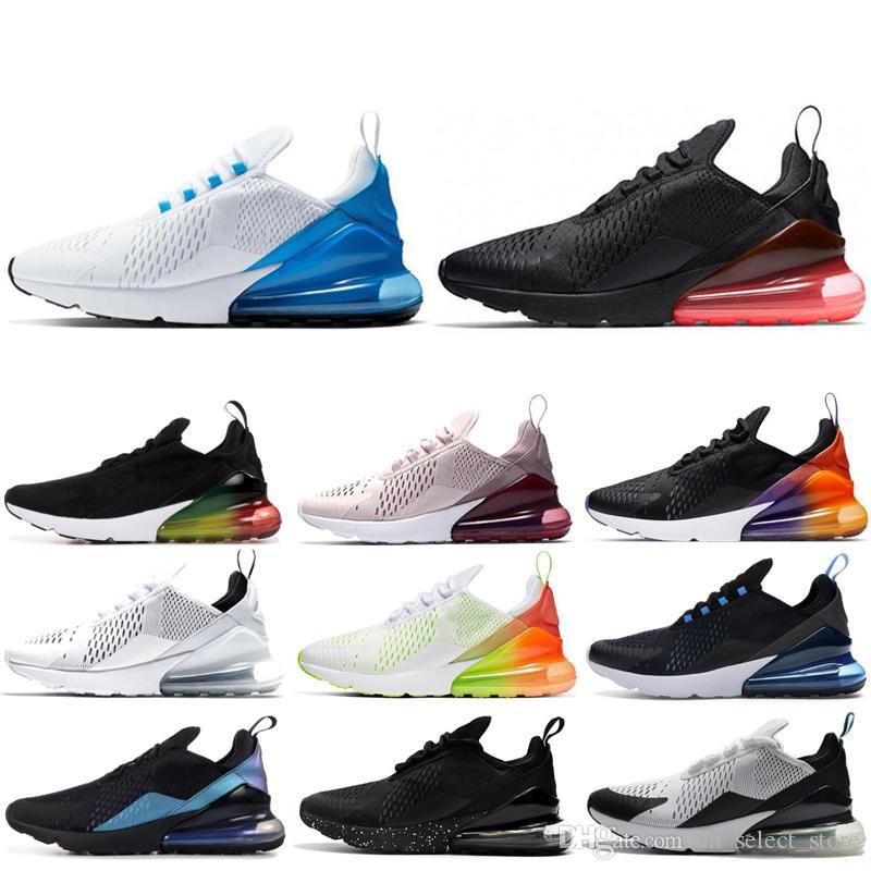 Nike air max 270 Barato sapatos ao ar livre para homens mulheres BARELY ROSE Foto Azul Triplo Branco Preto CNY respirável mens trainer esportes tênis tênis